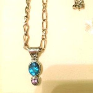 Jewelry - Sterling Silver necklace & gemstone pendant